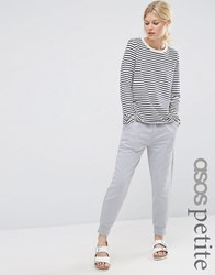 Asos Petite Luxe Joggers With Contrast Satin Pockets Grey