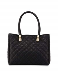Cole Haan Benson Quilted Leather Tote Bag Black