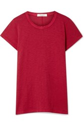 Rag And Bone The Tee Pima Cotton Jersey T Shirt Red