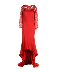 Musani Couture 3 4 Length Dresses Red