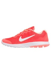 Nike Performance Flex Experience 4 Lightweight Running Shoes Bright Crimson White Atomic Pink Coral