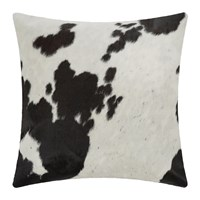 Amara Large Speckling Cowhide Cushion 45X45cm Black White
