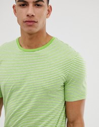 United Colors Of Benetton Stripe T Shirt In Green