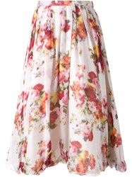 Dress Camp Sheer Floral Skirt Nude And Neutrals