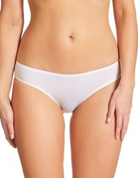 Fine Lines Solid Seamless Panty White