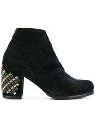 Calleen Cordero Studded Heel Ankle Boots Leather Suede Rubber 8.5 Black
