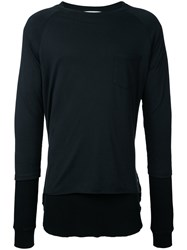 Converse Tokyo One Long Sleeved Sweater Men Cotton 00 Black