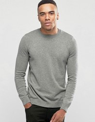 New Look Crew Neck Jumper In Grey Mid Grey