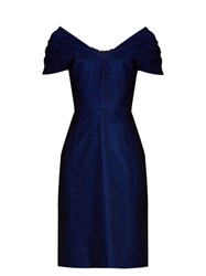 Emilio De La Morena Tamara Off The Shoulder Dress Blue