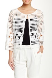 Luma Crocheted Shrug White