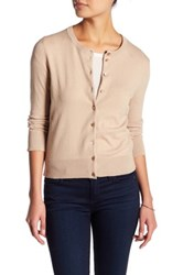 Cable And Gauge Crew Cardigan Petite Beige