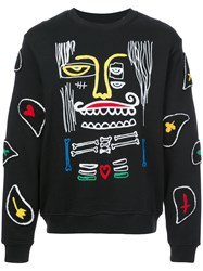 Haculla Monster Paisley Patch Sweatshirt Black