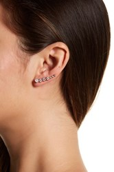 Melinda Maria Julie Ear Climber And Stud Earrings Set White