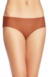 Women's Halogen 'No Show' Mesh Hipster Briefs Brown Shell