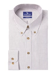 Chester Barrie Baden Oxford Bengal Button Down Wine