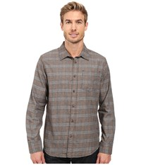 Prana Alabaster Flannel Mud Men's Clothing Taupe