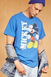Forever 21 Junk Food Mickey Mouse Tee Royal
