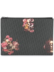 Christian Dior Homme Floral Print Clutch Black
