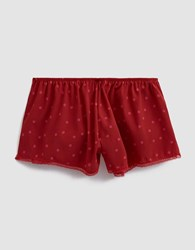 Laura Urbinati Stretch Crepe De Chine Sleep Short Pois In Ruby Fuchsia Ruby Fuchsia