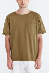 Cpo Freestone Heavyweight Cotton Wide Neck Tee Green