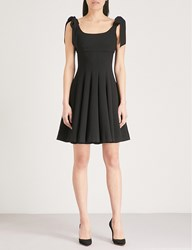 The Kooples Pleated Fit And Flare Crepe Dress Bla01