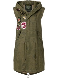 Mr And Mrs Italy Patch Detail Gilet Green