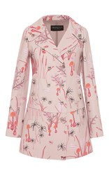 Giambattista Valli Double Breasted Magic Mushroom Coat Pink