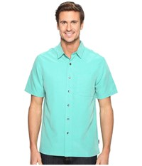 Royal Robbins Desert Pucker S S Bowden Men's Short Sleeve Button Up Green