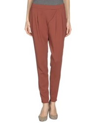 Space Style Concept Casual Pants Maroon