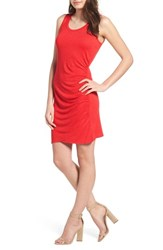 Love Fire Ruched Minidress Red