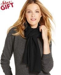 Charter Club Jersey Knit Cashmere Muffler Only At Macy's Classic Black