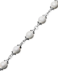 Macy's Pearl Bracelet Sterling Silver Cultured Freshwater Pearl Toggle