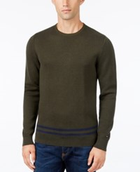 Tommy Hilfiger Men's Camden Combed Cotton Sweater Rosin