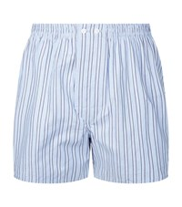 Harrods Multi Stripe Boxer Shorts Blue