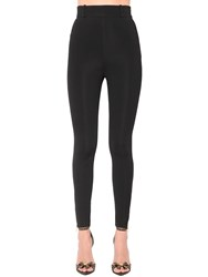 Versace High Waist Bonded Jersey Leggings Black