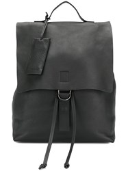 Marsell Tag Detail Backpack Women Leather One Size Black