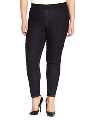 Karen Kane Plus Dark Wash Denim Leggings Indigo