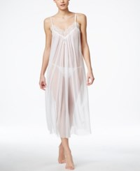 Oscar De La Renta Lace V Neck Nightgown With Matching Thong White