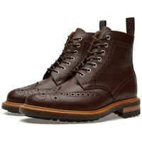 Mark Mcnairy Commando Sole Brogue Boot Chocolate Brown Waxy