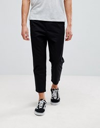 Pull And Bear Pullandbear Relaxed Chino In Black Black