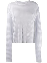 Rta Striped Sweater White