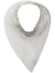 Faith Connexion Chain Mail Knit Scarf Metallic
