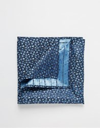 French Connection French Connencton Floral Pocket Square Blue