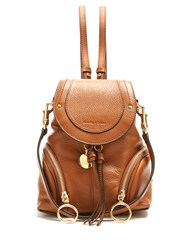 See By Chloe Olga Grained Leather Backpack Tan
