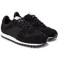 Spalwart Marathon Trail Suede And Mesh Sneakers Black