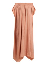 Loup Charmant Hydra Off The Shoulder Organic Cotton Dress Pink