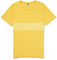 Nn.07 Todd Striped Cotton Jersey T Shirt Yellow