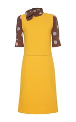 Marni Short Sleeve Dress Yellow