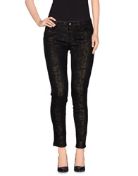 Blue Les Copains Denim Pants Dark Brown
