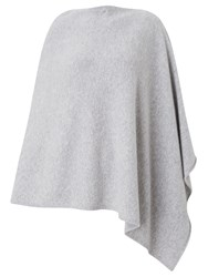 John Lewis Cashmere Poncho Light Grey
